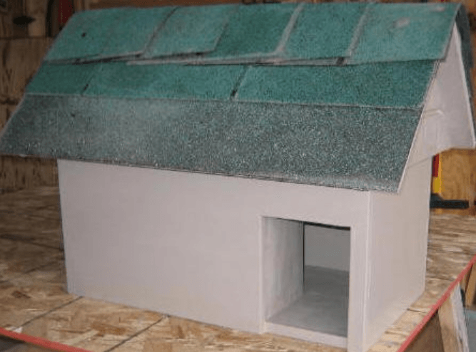 outdoor cat house building plan with measurements