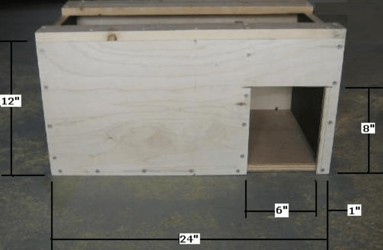 step 1 cut the house base pieces select 34 x 24 x 48 plywood panel crosscut the panel in half two squares 24 x 24