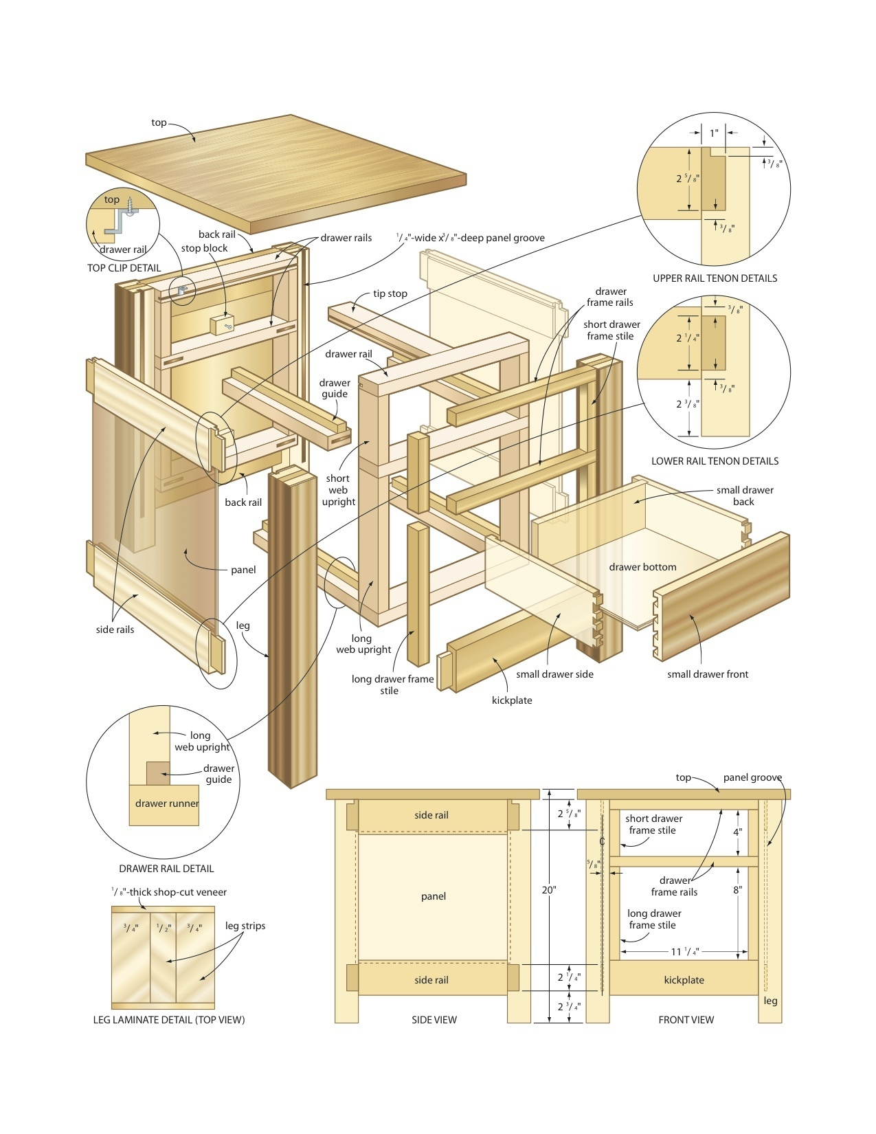 Free Woodworking Plans End Table 4